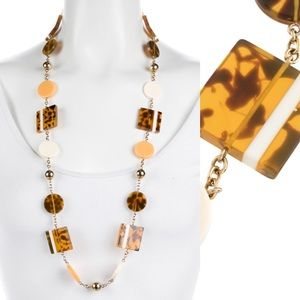 Kate Spade Tortoise Shell Geometric Necklace